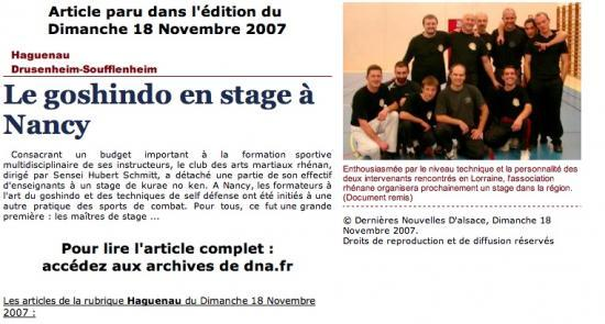 Article DNA du 18 novembre 2007