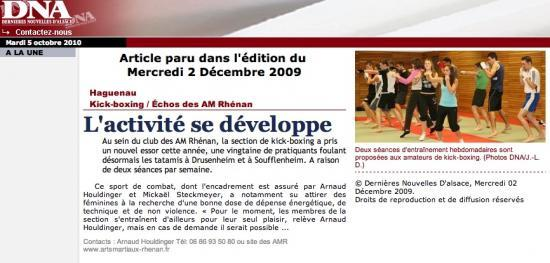 Article DNA du 02 décembre 2009