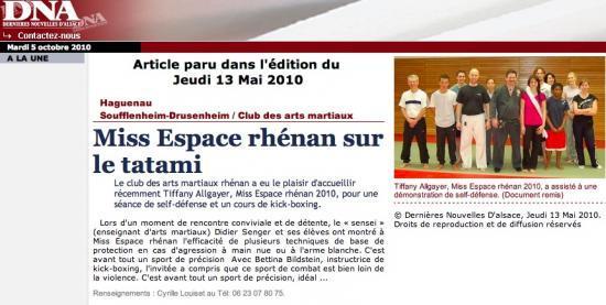 Article DNA du 13 mai 2010