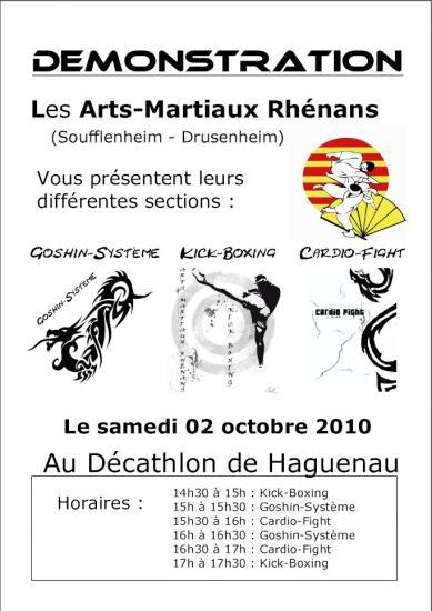 Affiche Demonstration au Décathlon de Haguenau