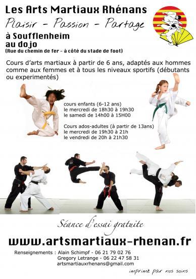 club arts martiaux Soufflenheim adultes