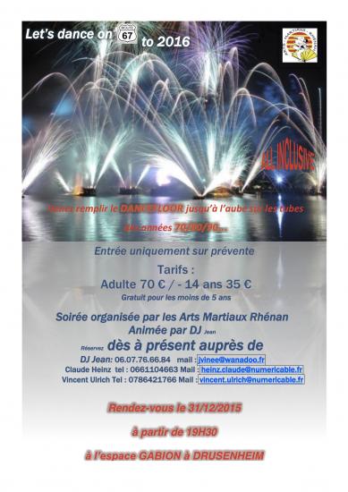 Bal Nouvel An 2016 Saint Sylvestre Arts Martiaux Rhénans