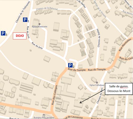 Map dojo rue du jura 5 la tatironne